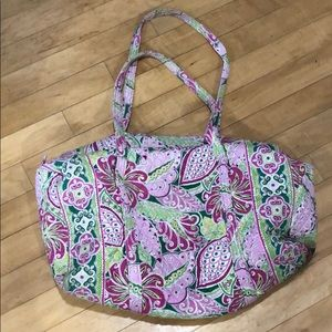 Vera Bradley iconic large travel duffle